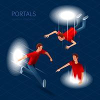 way out portaler set vektor
