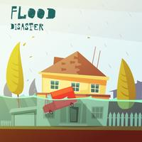 Flood Disaster Illustration