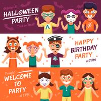 Party med Greasepaint Banners Set