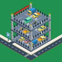 Bilparkeringskoncept vektor