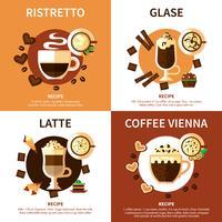Kaffe 2x2 Design Concept vektor