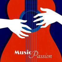 Musikpassionaffisch vektor