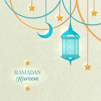 Ramadan-Lichtfarbe-Plakat vektor