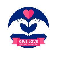 Välgörenhetsorganisationens logotypillustration vektor