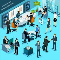 Isometrische Sammlung der Geschäftsleute