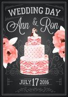 Hochzeitstafel Poster vektor