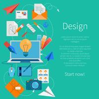Design-Entwicklungskomposition vektor