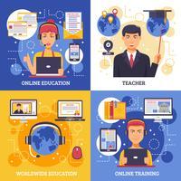 Onlineausbildungs-Ausbildungs-Konzept des Entwurfes vektor