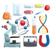 science cartoon set