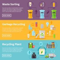Müll Recycling Banner gesetzt