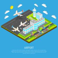 Poster av isometrisk flygplats