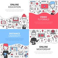 online utbildning designkoncept uppsättning