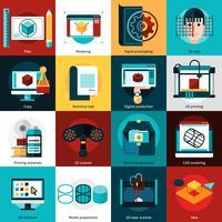 Prototyping och modellering ikoner
