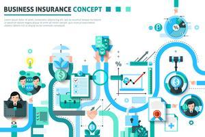 Betriebsversicherungskonzept Illustration