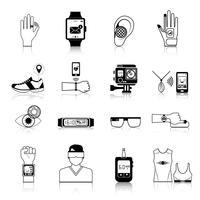 Gadgets und Geräteikonen eingestellt vektor