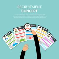 Rekrutierung flaches Konzept