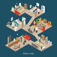 dental klinik koncept isometrisk banner