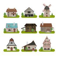 Mittelalterliche antike Gebäude eingestellt