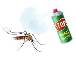 Anti-Mückenspray vektor
