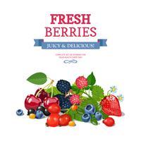 Frisches Beeren-Hintergrund-Anzeigen-Hintergrund-Plakat