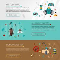 Pest Control Extermination 3 Flat Banner