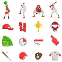 Baseball platt set vektor