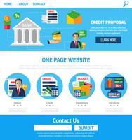 One Page Kreditförslag för webbplatsen