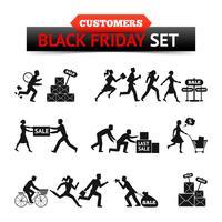 svart friday försäljning kunder set