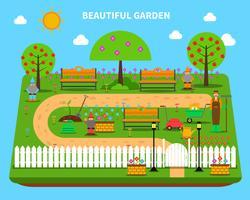 Trädgårds koncept illustration vektor