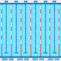 Draufsicht-flaches Piktogramm des Swimmingpools
