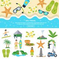 Konzept Bali-Reise vektor
