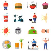 Transformation von Übergewicht zu einem gesunden Lebensstil vektor