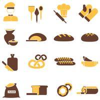 Bageri ikoner uppsättning