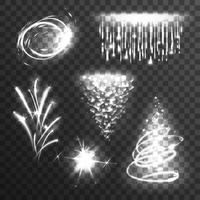 Ljus effekter vit uppsättning vektor
