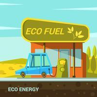Ekologisk energi tecknad vektor