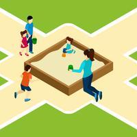 Zahlen auf der Spielplatz-Illustration