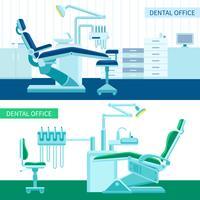 Zahnärztliches Zimmer Banner Set