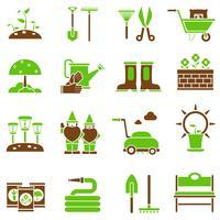 Trädgårds ikoner uppsättning