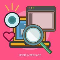 Benutzeroberfläche Konzeptionelle Illustration Design