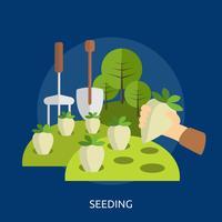 Seeding konzeptionelle Illustration Design