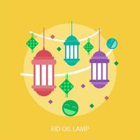 Eid-Öl-Lampen-Begriffsillustration Design vektor