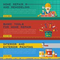 Home Repair Service Flache Banner Ser vektor