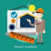 Projektplanering Konceptuell illustration Design vektor