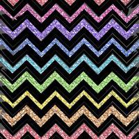 Sömlösa mönster med färgmönster av zigzaglinjer vektor