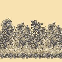 Abstraktes Spitze-Band-nahtloses Muster. Schablonenrahmendesign für Karte. vektor