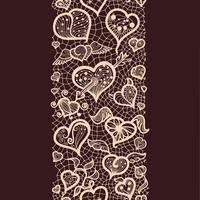 Abstraktes Muster mit nahtlosen Musterdarstellungen der Spitzen- Valentinsgrüße für Postkarten und Grüße, Vektorformat für Ihr Design vektor