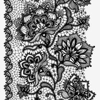 Abstraktes Spitze-Band-vertikales nahtloses Muster.