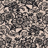 Abstrakt sömlöst spetsmönster med blommor och fjärilar. Oändligt tapeter, dekoration för din design, underkläder och smycken.