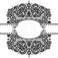 Abstrakt Lace Ribbon Seamless Pattern vektor