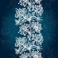 Abstrakt Lace Ribbon Seamless Pattern. vektor